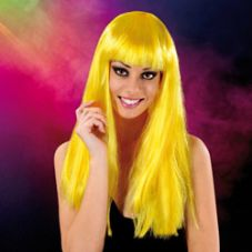 Cabaret Wig Bumble Bee Yellow Long
